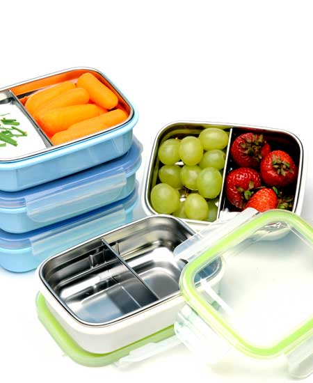 Image of Steeltainer Elements: Leak Proof Lunch and Snack Boxes in Stainless Steel